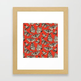 summer butterflies fire Framed Art Print