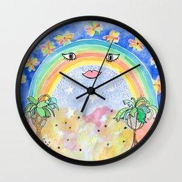 Lady Rainbow Wall Clock
