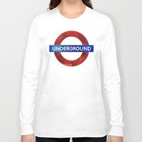velvet underground Long Sleeve T-shirts featuring Underground by Hipogrifos