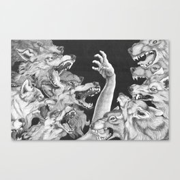 The Wolves are Coming Canvas Print