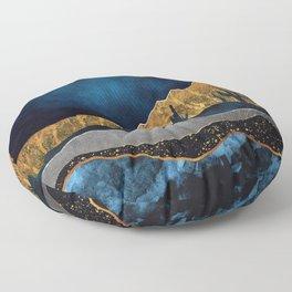 Midnight Desert Moon Floor Pillow