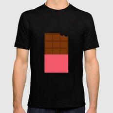 Chocolate MEDIUM Mens Fitted Tee Black