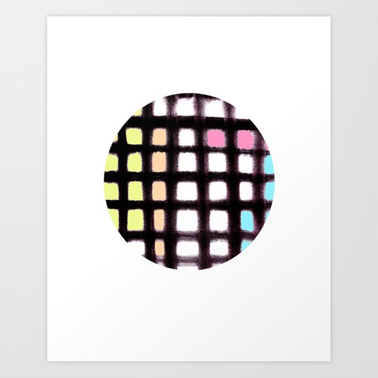 MODERN PLAID Art Print