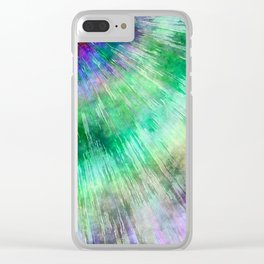 Tie Dye Watercolor Abstract Clear iPhone Case