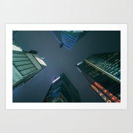 Night Sky and Skyscrapers Art Print