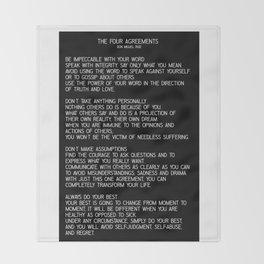 The Four Agreements #minimalist 2 Throw Blanket