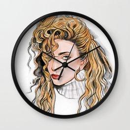 Italian curls / LadyGaga Wall Clock