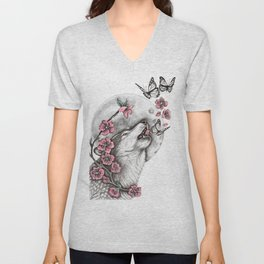 Call Of The Wolf Unisex V-Neck