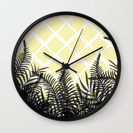 Tropical Ferns on Pattern #society6 #decor #buyart Wall Clock
