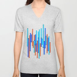 Paper Stripes - Color variation 2 Unisex V-Neck