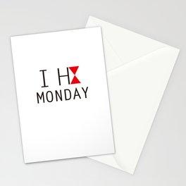 I H8 MONDAY 2 Stationery Cards