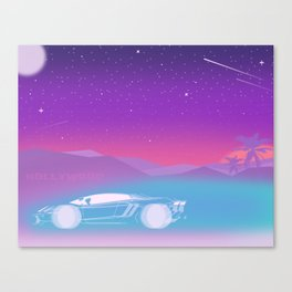 It's fun to drive up in the Hollywood hills Canvas Print