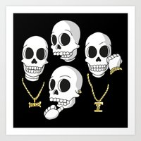 2pac Art Prints featuring Death Row by Zhi-Yun