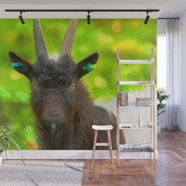 Goat Art For Animal Lover Wall Mural