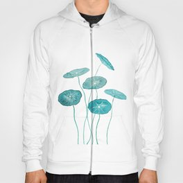 whorled umbrella plant leaf watercolor Hoody