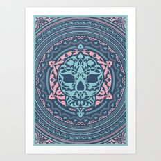 Skull Patterns Art Print