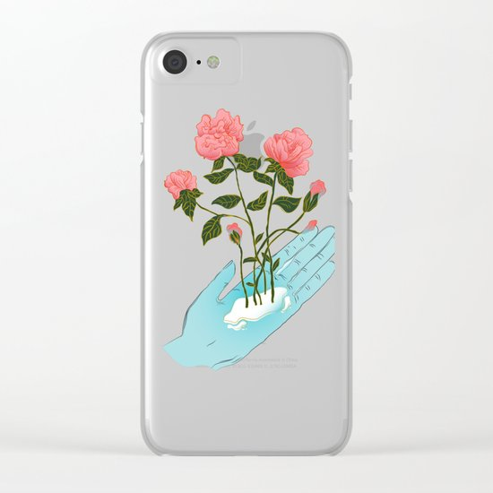 Roses n' Hand Clear iPhone Case