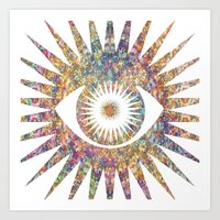 prism Art Prints featuring PRISM by shutupbek