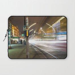 Light trails in Wien Laptop Sleeve
