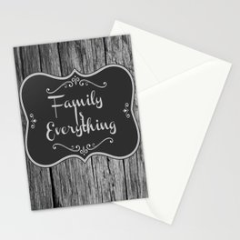 Family Is Everything Farmhouse Decor Stationery Cards