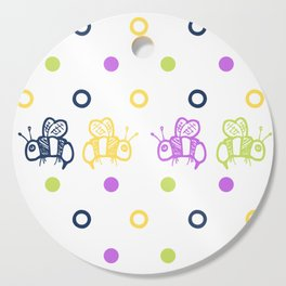 Bees and Dots Springtime Colors Cutting Board