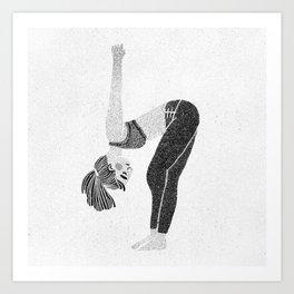 Yoga Stretch Art Print