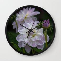 Porcelain Dahlias Wall Clock