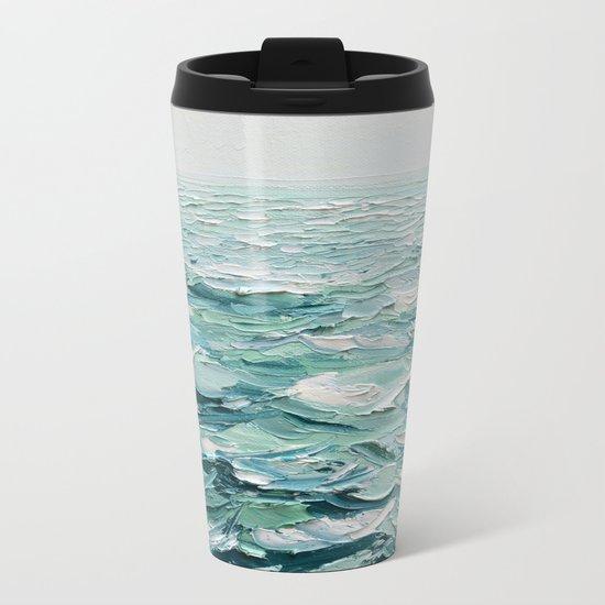 Minty Seas Metal Travel Mug