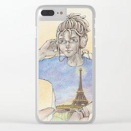 OC: Jean x Paris Clear iPhone Case