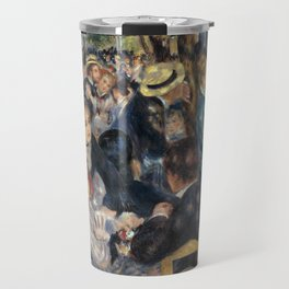 Auguste Renoir -Bal du moulin de la galette, Dance at Le moulin de la Galette Travel Mug