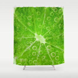 Lime Fizz Shower Curtain