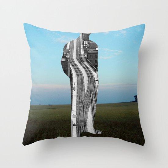 City Man´s Dream Collage Throw Pillow
