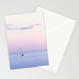 Sailboat Under a Pink Pastel Sky Stationery Cards