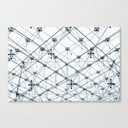 Underneath the Louvre Pyramid Canvas Print