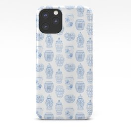 Classic Blue And White Watercolor Ginger Jar Chinoiserie Pattern iPhone Case