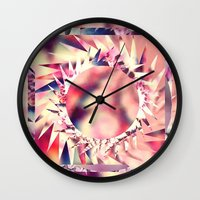trippy Wall Clocks featuring Trippy  by Pink Berry Patterns