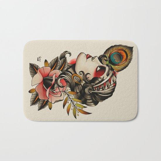 Gipsy girl - tattoo Bath Mat