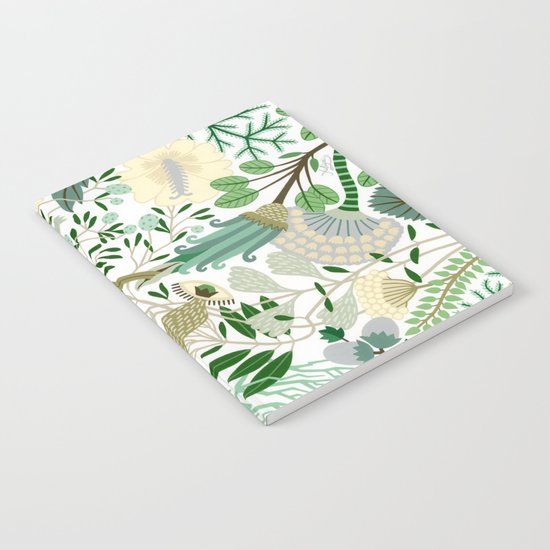 Green Flower Fantasy  Notebook