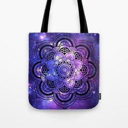 Mandala : Purple Blue Galaxy Tote Bag
