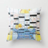 guitar Throw Pillows featuring Guitar by Nimai VandenBos