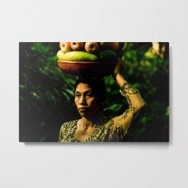 Balinese Woman Metal Print