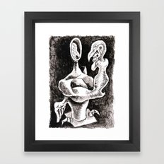 My Face is the Mirror Framed Art Print