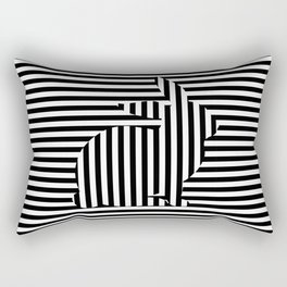 Rabbit on Stripes Rectangular Pillow