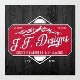 JF Designs Custom Cabinets & Millwork Canvas Print
