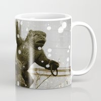 prague Mugs featuring Prague  Gargoyle by Bella Blue Photography