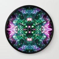 kaleidoscope Wall Clocks featuring Kaleidoscope by Mark Kriegh