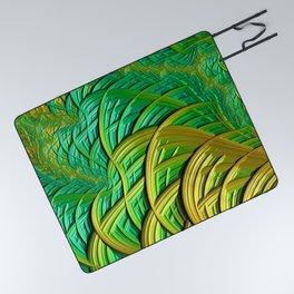 patterns green yellow string Picnic Blanket
