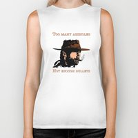 clint eastwood Biker Tanks featuring Clint Eastwood by Mr. Stonebanks
