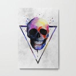 Watercolor Skull Metal Print