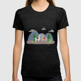 Cute Llamas Illustration T-shirt